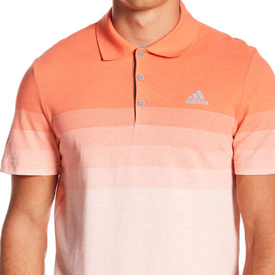 ADIDAS MENS GRADIENT GOLF POLO SHIRT - BLAZE/ORANGE