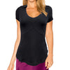 Catwalk Taylor Short Sleeve Golf Top - Black
