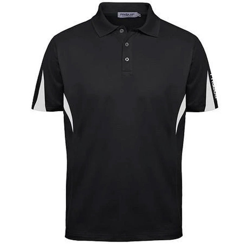 PROQUIP Men's Polyester Panelled Polo -  Black