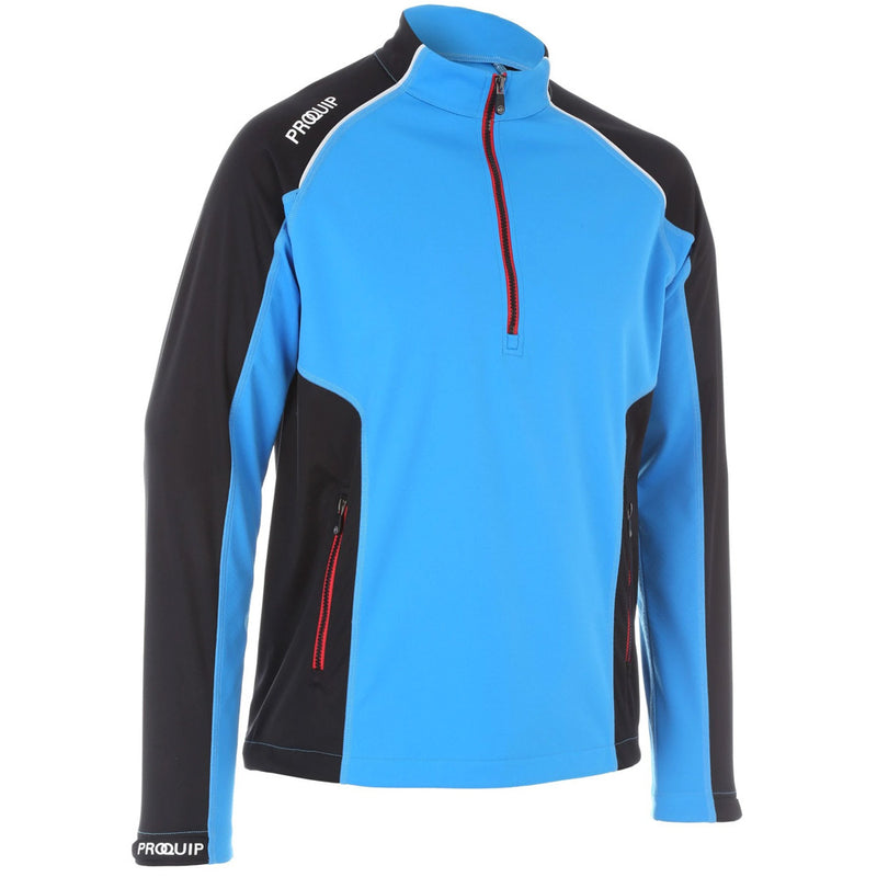 PROQUIP Mens TourFlex Cyclone Soft Shell Windproof Pullover - BRILLIANT BLUE