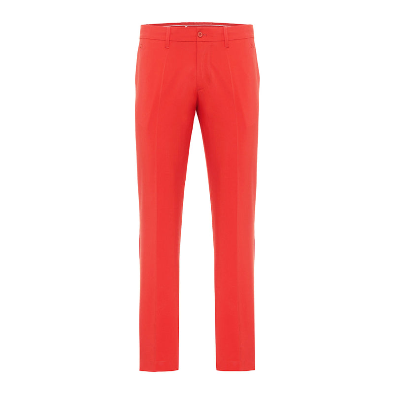 J Lindeberg Men's Ellott Regular Fit Mirco Stretch Pants - RED INTENSE