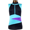 Catwalk Alexa Sleeveless Relaxed Fit Golf Top - Aqua Black