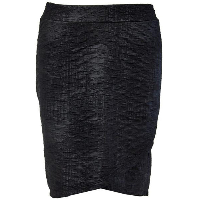 Catwalk Crossover Skirt - Black Metal