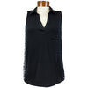Catwalk Clarissa Sleeveless Golf Top - Black/BMB Print