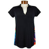 Catwalk Clarissa Short Sleeve Golf Top - Black/Bright Color