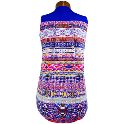 Catwalk Clarissa Sleeveless Golf Top - Saphire/Batik