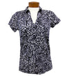 Catwalk Clarissa Short Sleeve Golf Top - BMB Print/Black