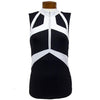 Catwalk Convertible Sleeveless Top - Black/White