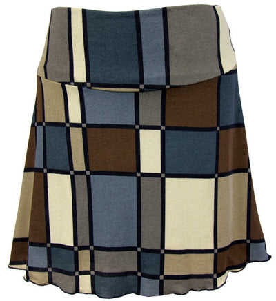 Catwalk Cozy Knit Skirt - Mondrian