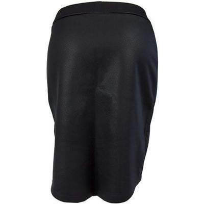Catwalk Crossover Skirt - Black Leather