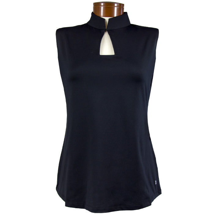 Catwalk Elle Sleeveless Fit Golf Top - Black