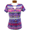 Catwalk Front2Back Short Sleeve Golf Top - Batik