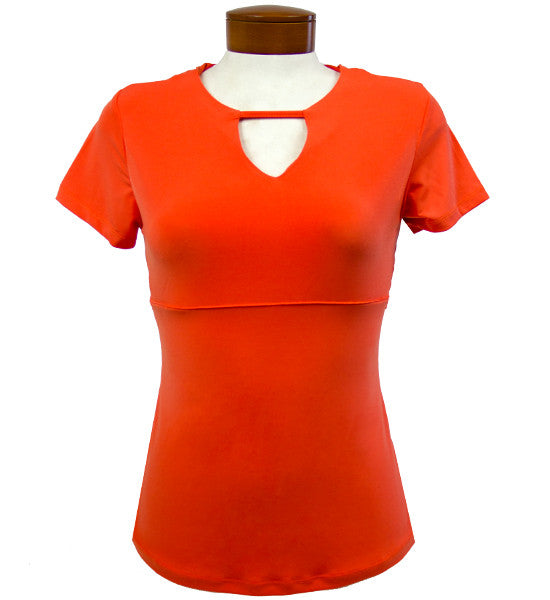 Catwalk Front2Back Short Sleeve Golf Top - Orange