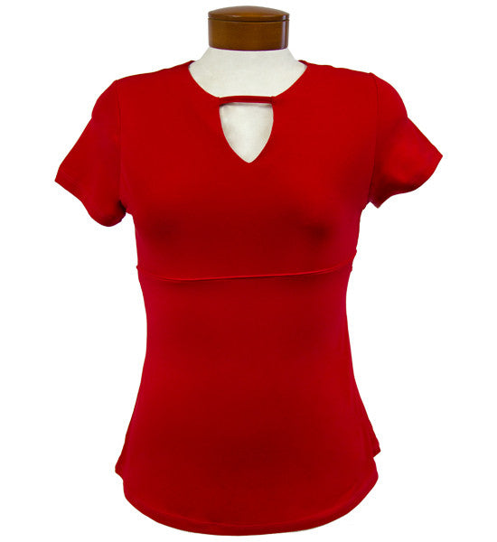 Catwalk Front2Back Short Sleeve Golf Top - Red
