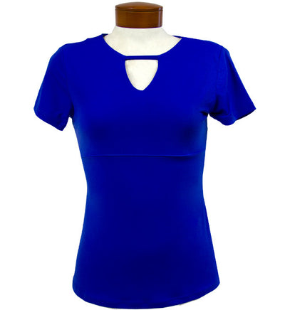 Catwalk Front2Back Short Sleeve Golf Top - Sapphire