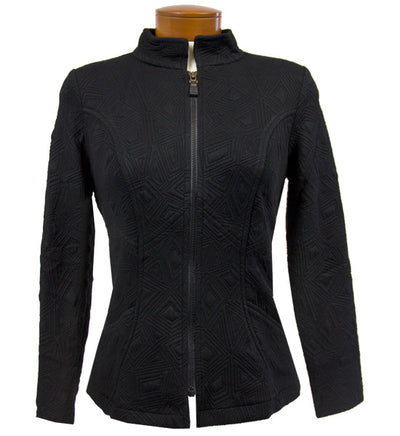 Catwalk Luxe Quilt Jacket - Black/Edgy Text