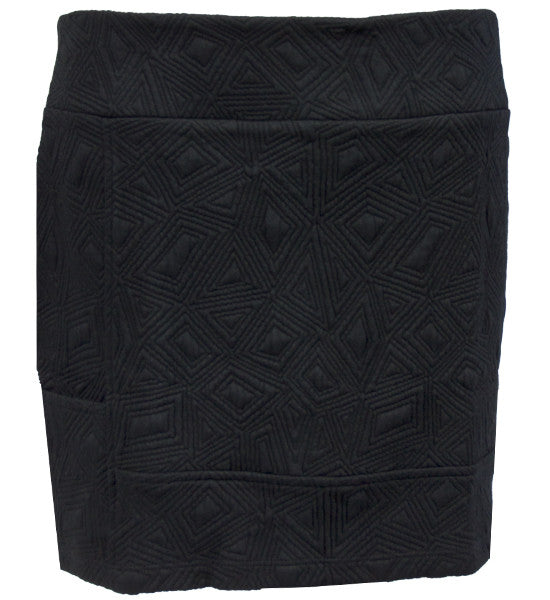 Womens Catwalk Luxe Skirt - Edgy Text