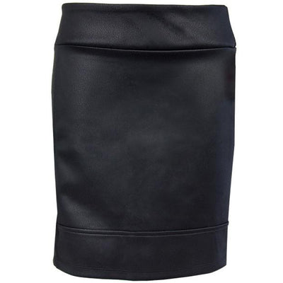 Catwalk Pocket Skirt - Black Leather