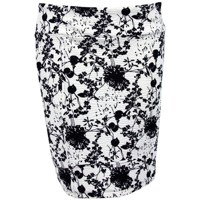 Catwalk Pocket Skirt - White Blossom
