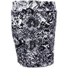Catwalk Pocket Skirt - Black Print Scuba