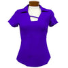 Catwalk Tanya Short Sleeve Golf Top - Concorde