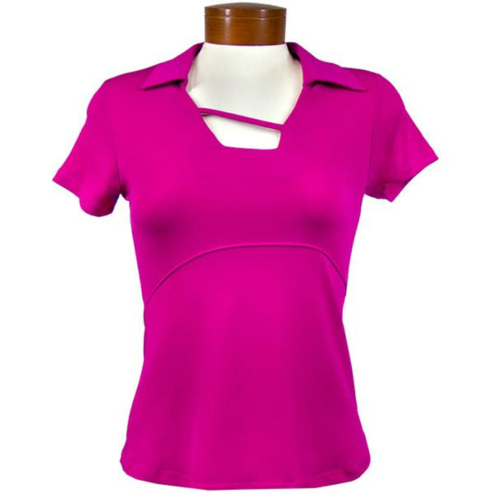 Catwalk Tanya Short Sleeve Golf Top - Magenta