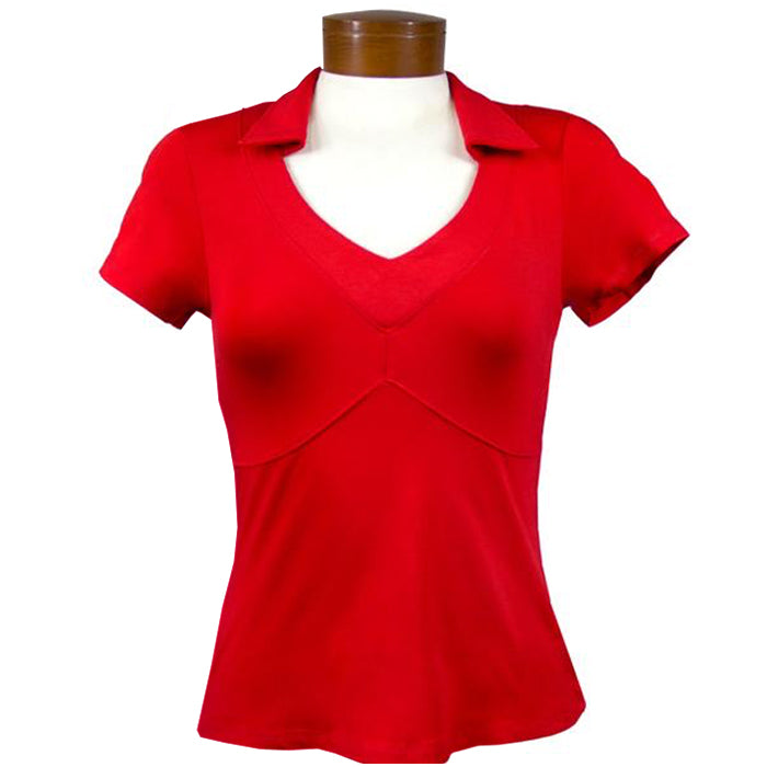 Catwalk Taylor Short Sleeve Golf Top - BMB Red