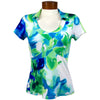 Catwalk Taylor Short Sleeve Golf Top - Serene Blue