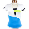 Catwalk 1140 Short Sleeve Golf Top - Blue/Black/Lime