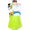 Catwalk 1141 Sleeveless Golf Top - Flower Print/Lime