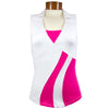 Catwalk 1142 Sleeveless Golf Top - White/Pink