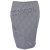 Catwalk Z Knit Skirt - Black Check