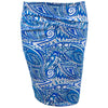 Catwalk Z Knit Skirt - Blue Print