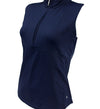 Catwalk Haley Sleeveless Golf Top - Navy - Relaxed Fit