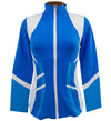 Catwalk Pocket Zippy Jacket - Blue/White