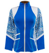 Catwalk Pocket Zippy Jacket - Blue Print
