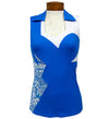 Catwalk Eliza Sleeveless Top - Blue Print