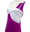 Womens Catwalk Stacey Relaxed Sleeveless Top - Berry/White