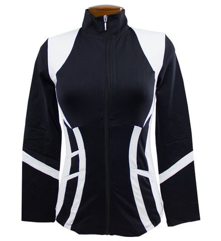 Catwalk Pocket Zippy Jacket - Black/White