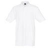 Dunning Stretch Solid Jersey Polo - White