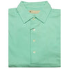 Mens Short Sleeve Classic PIQUE, SELF COLLAR, LEFT POCKET - SEAFOAM