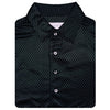 Mens Short Sleeve Combo print Jersey Self Collar - BLACK COMBO