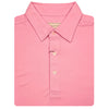 Donald Ross Mens Short Sleeves Performance Solid Pique 3 Self Collar Polo - PINK