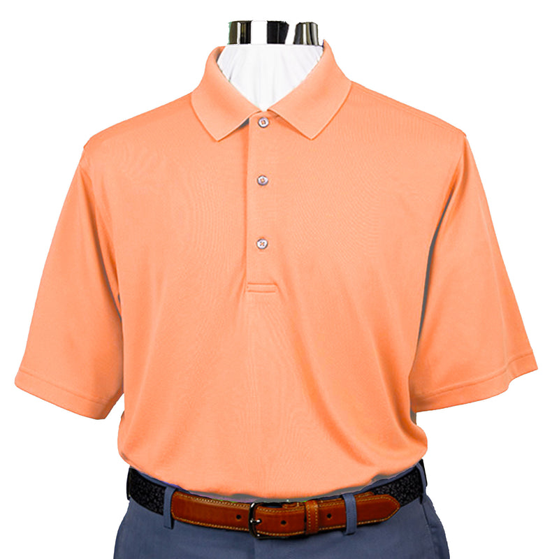 Donald Ross Short Sleeve Lacoste Style PIQUE - Knit Collar - CITRUS