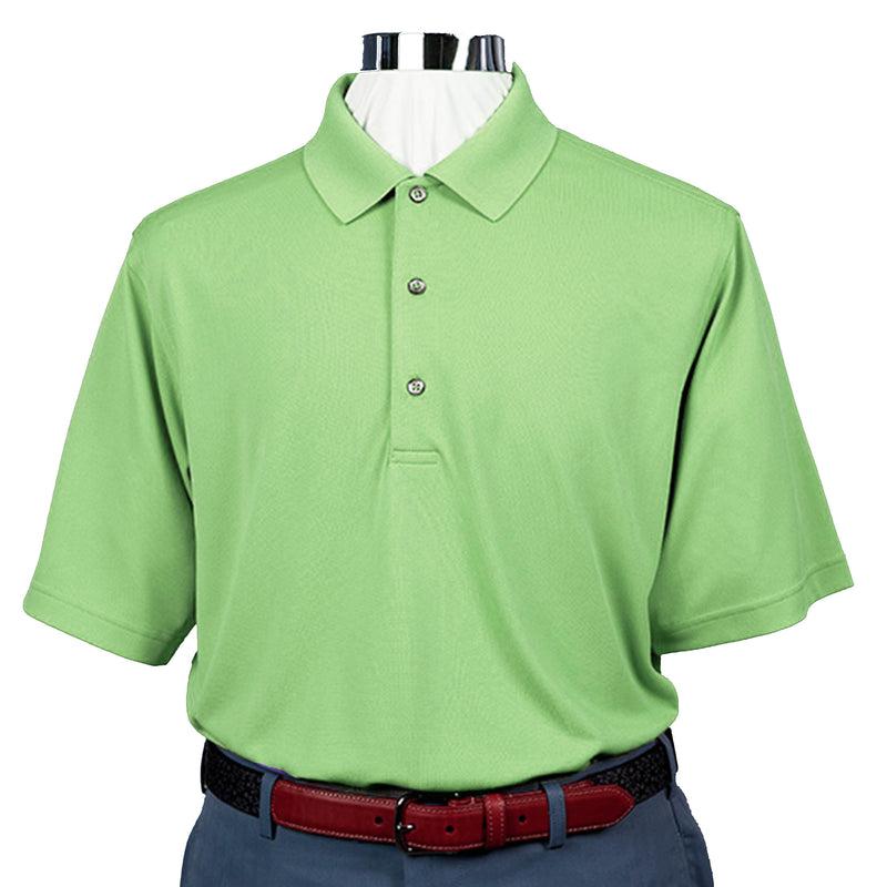 Donald Ross Short Sleeve Lacoste Style PIQUE - Knit Collar - KELLY GREEN