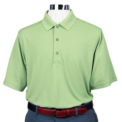 Mens Short Sleeve Lacoste Style PIQUE - Knit Collar - MINT