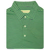 Mens Short Sleeve 3 Color Bold SHADOW Stripe JERSEY with Self Collar - IRISH GREEN/NAVY/CREAM