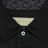 Donald Ross Short Sleeve Solid JERSEY with Floral Print - BLACK