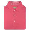 Donald Ross Short Sleeve Solid JERSEY with Floral Print - GUAVA