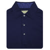 Donald Ross Short Sleeve Solid JERSEY with Floral Print - NAVY